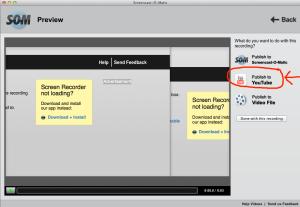 screencast-publish to youtube